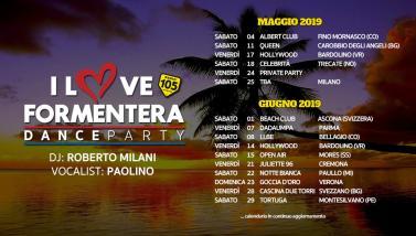 105 I Love Formentera: ecco il calendario delle serate