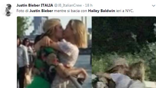 Justin Bieber e Hailey Balwdin: baci romantici a New York