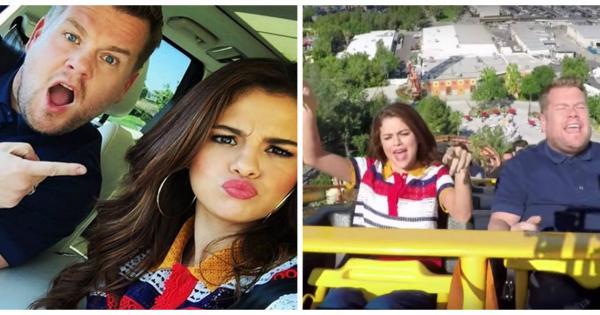 Selena Gomez è la protagonista del Carpool Karaoke...con tanto di montagne russe. Guarda il video