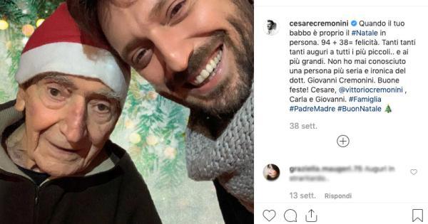 Lutto per Cesare Cremonini: è morto il padre Giovanni