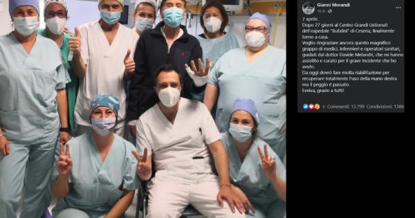 Morandi finalmente dimesso dopo l'incidente alle mani