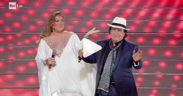 Al Bano rischia di cadere sulle scalinate di Sanremo 2020