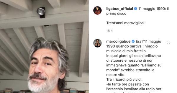 "Ligabue festeggia 30 anni dall'uscita del suo primo album, ""Ligabue"""