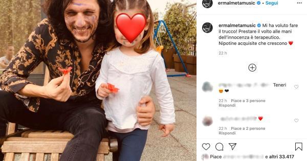 Ermal Meta ha postato una foto dolcissima con la nipotina acquisita