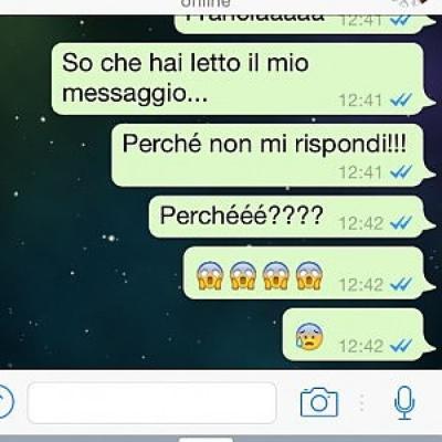 I messaggi whatsapp delle fidanzate psicopatiche da vedere foto 1 di 13 radio 105 - Amici di letto chat ...