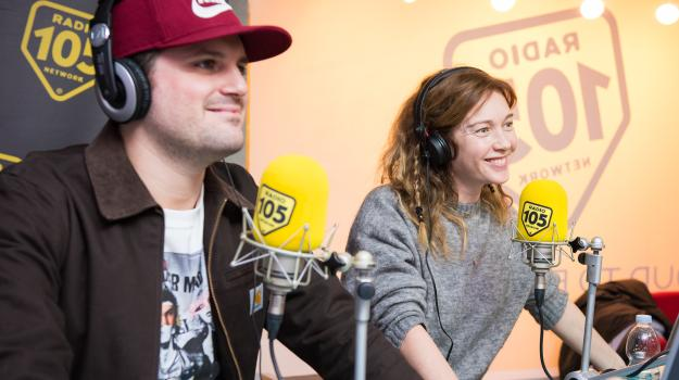 Frank Matano e Cristiana Capotondi, le foto dell'intervista a 105 Mi Casa