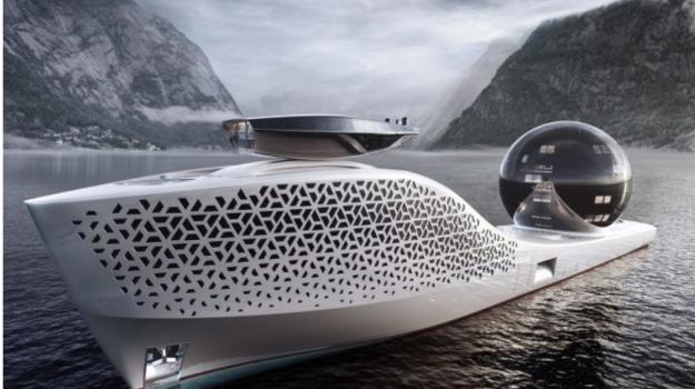Una sfera gigante per il mega yacht più strabiliante e tutto green!