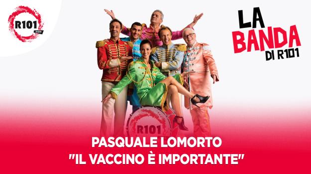 Pasquale Lomorto canta Il vaccino è importante