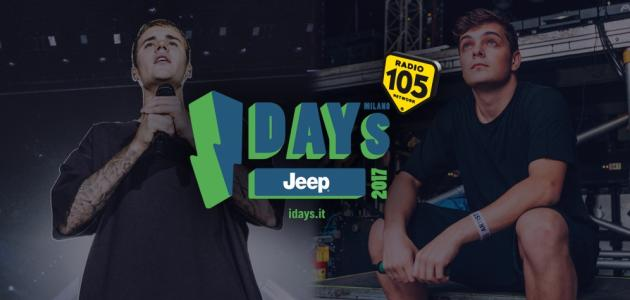 Radio 105 ti porta all'I-Days Milano 2017!
