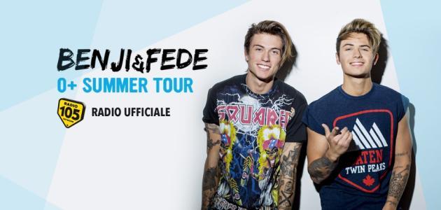 """Radio 105 Radio Ufficiale Dello """"0+ Summer Tour"""" Di Benji & Fede"""