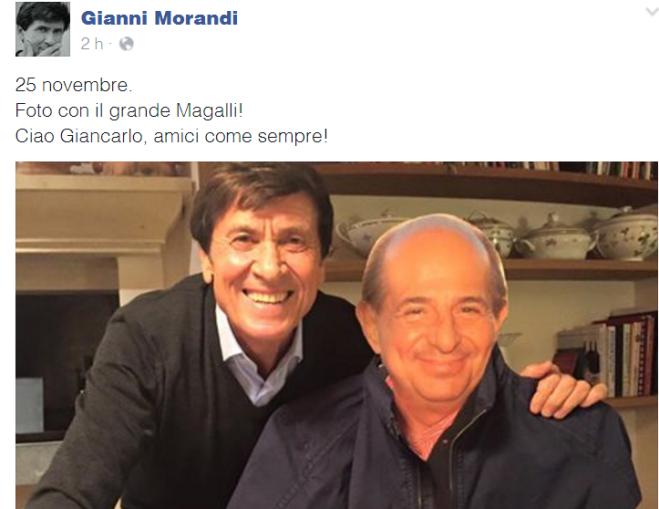 Fine della Guerra Social Morandi - Magalli e Selfie (Col Cartonato) Del Cantante