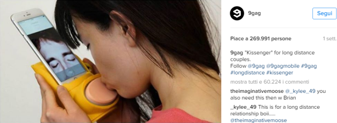 Kissenger, l'app per baciarsi a distanza