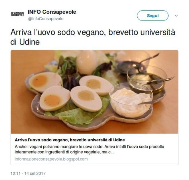 Hanno inventato l'uovo sodo vegano e il brevetto è italiano