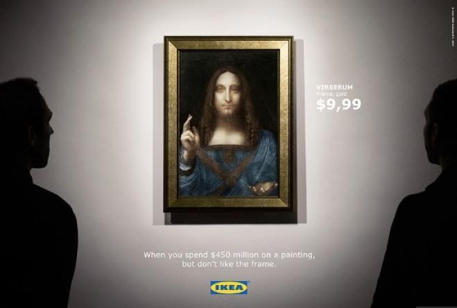 Ikea Ironizza Sulla Vendita Del Salvator Mundi Per Sponsorizzare Le Sue  Cornici. Geniale.