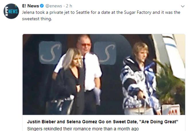 Jet Privato Justin Bieber Prezzo : Justin bieber e selena gomez uscita romantica a seattle