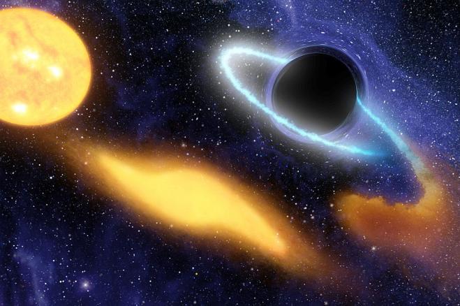 Trovato un buco nero dalla massa di 20 miliardi di Soli