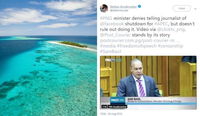 Esperimento Papua Nuova Guinea, chiude Facebook per un mese