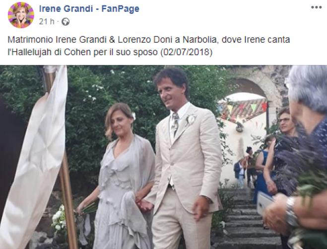Irene Grandi si è sposata in Sardegna, ecco chi è il fortunato