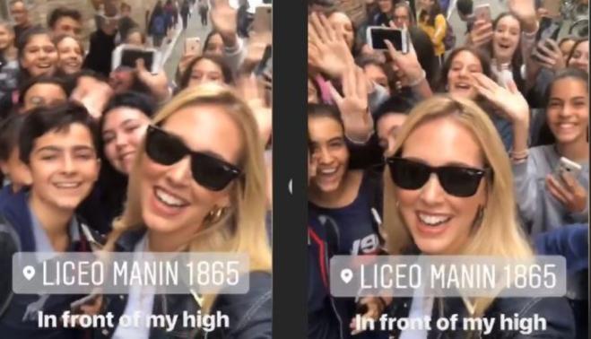 Chiara Ferragni: bagno di folla nel suo vecchio liceo di Cremona