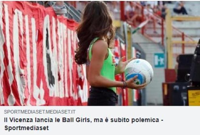 LR Vicenza, polemica per le ragazze a bordo campo