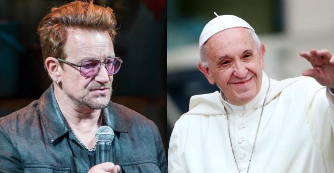 Bono e l'incontro con Papa Francesco: