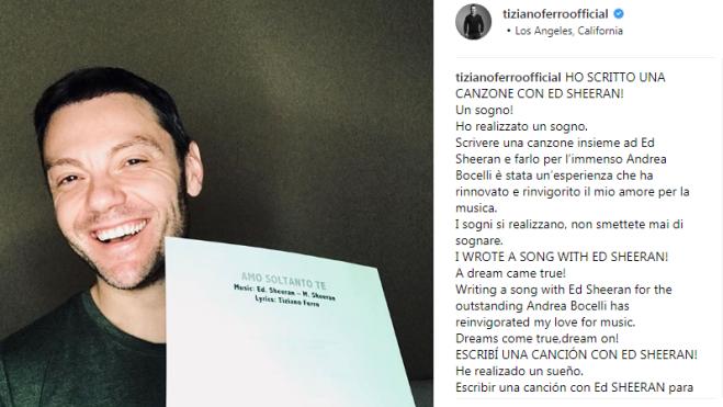 Per Ed Sheeran tre concerti in Italia a giugno