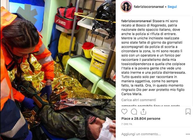 Fabrizio Corona aggredito: le immagini dall'ambulanza dopo il pestaggio
