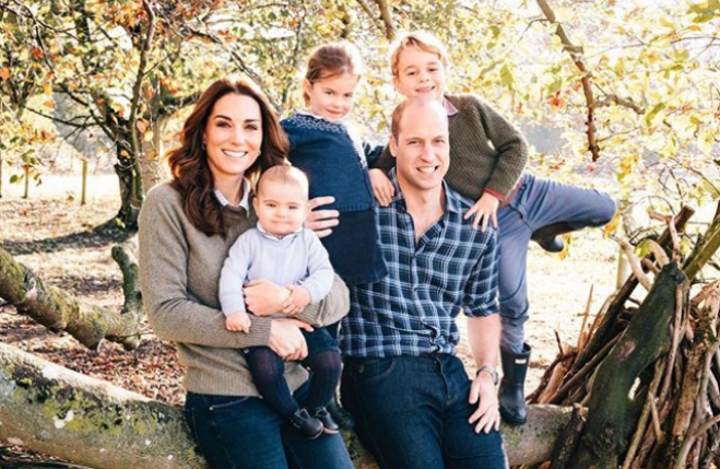 William, Kate, i tre principini e la nuova cartolina di Natale