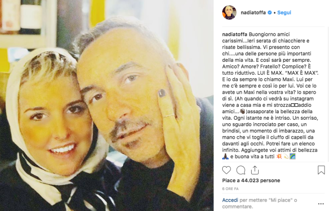 Nadia Toffa, dedica speciale su Instagram: