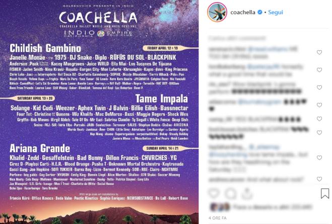 Ariana Grande protagonista del Coachella