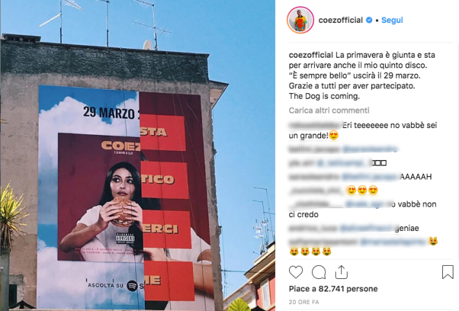 Coez annuncia l'album È sempre bello con un'azione di guerrilla marketing