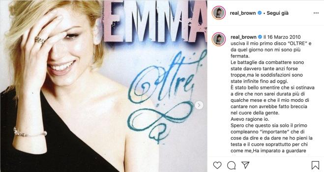 Emma Marrone, drammatica confessione: