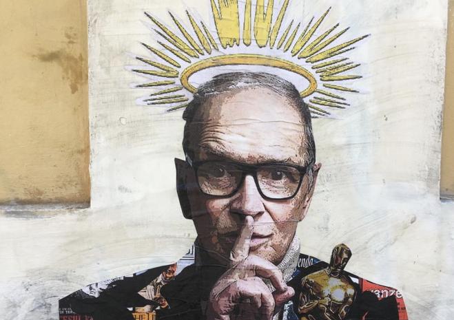 Ennio Morricone, spunta un murale a Trastevere