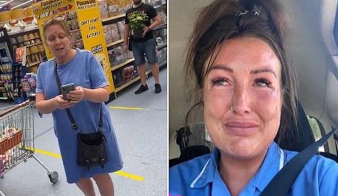 """Un'infermiera è stata accusata di """"diffondere germi"""" ed è stata cacciata da un supermercato"""