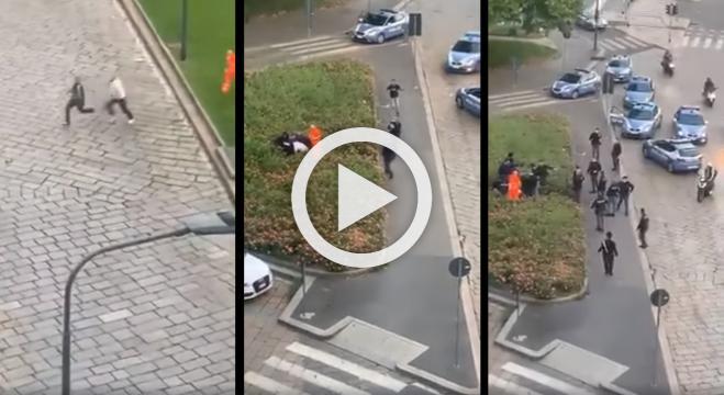 Inseguimento da film in pieno centro a Milano: uomo scappa dall'ambulanza