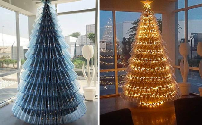 Alberi Di Natale Originali.10 Alberi Di Natale Davvero Originali Realizzati Da Persone Molto Creative Foto 1 Di 10 Radio 105