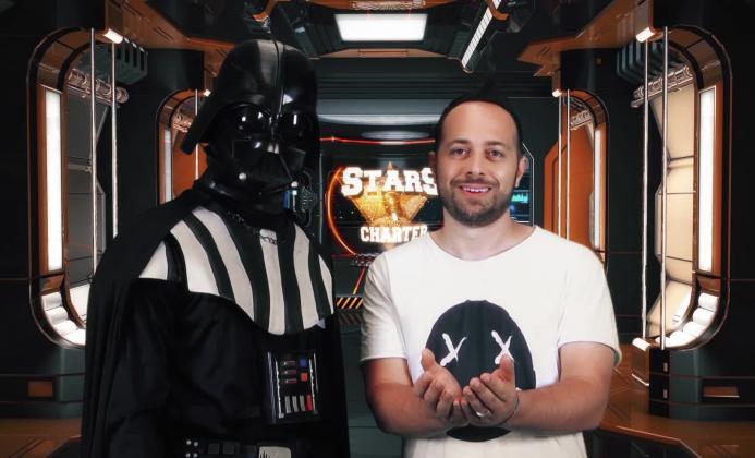 """""""Stars Charter, le avventure di  Mitch"""": a bordo dello Space Mitch One c'è Darth Vader!"""