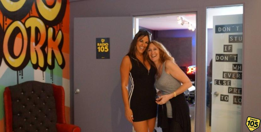 Claudia Romani negli studi di 105 Miami!