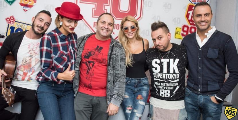 Scintilla ed Elena Morali a 105 Take Away, le foto