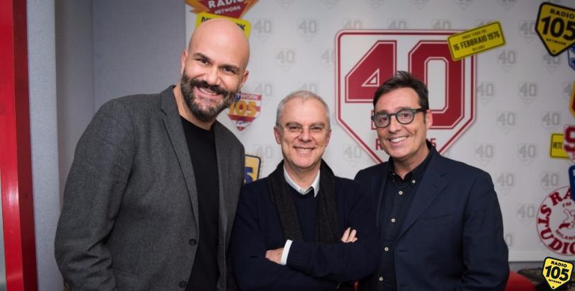 """Daniele Luchetti, regista di """"Francesco, il Papa della gente"""", a 105 Friends"""