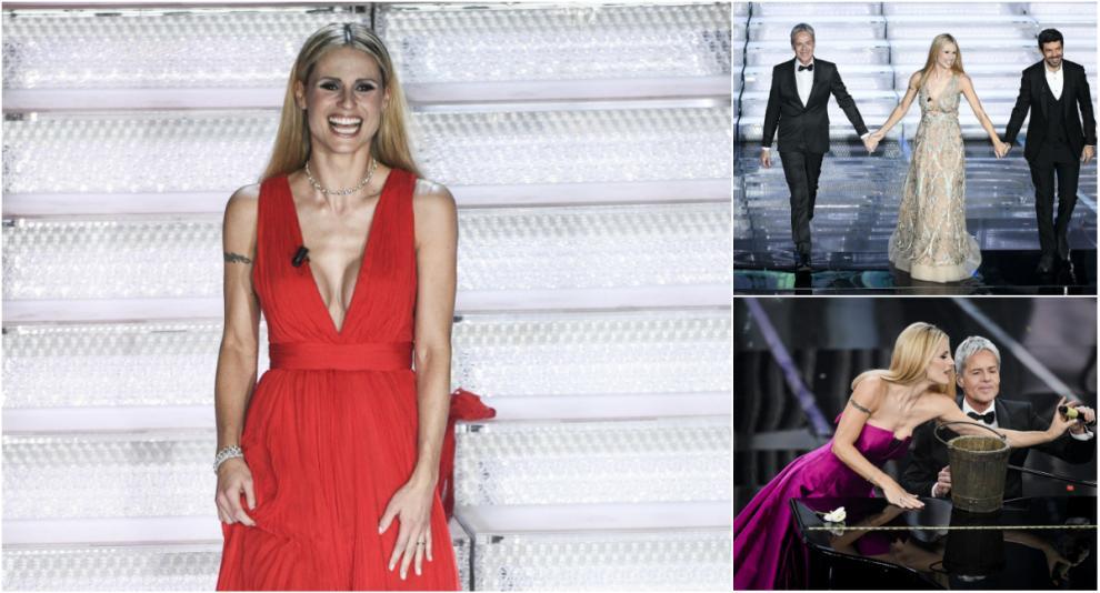 d808a65f56 Ecco gli abiti di Michelle Hunziker nella seconda serata di Sanremo ...
