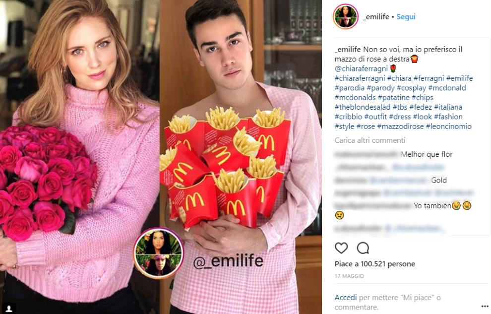 Emilife Il Ragazzo Che Imita Chiara Ferragni Su Instagram