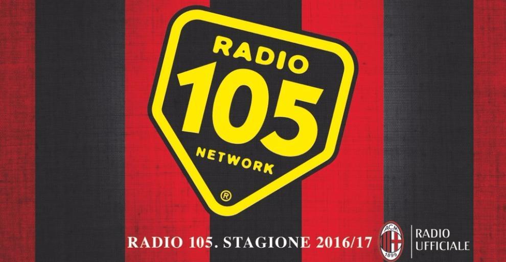 Per la stagione sportiva 2016/2017 Radio 105 sarà radio ufficiale del Milan.