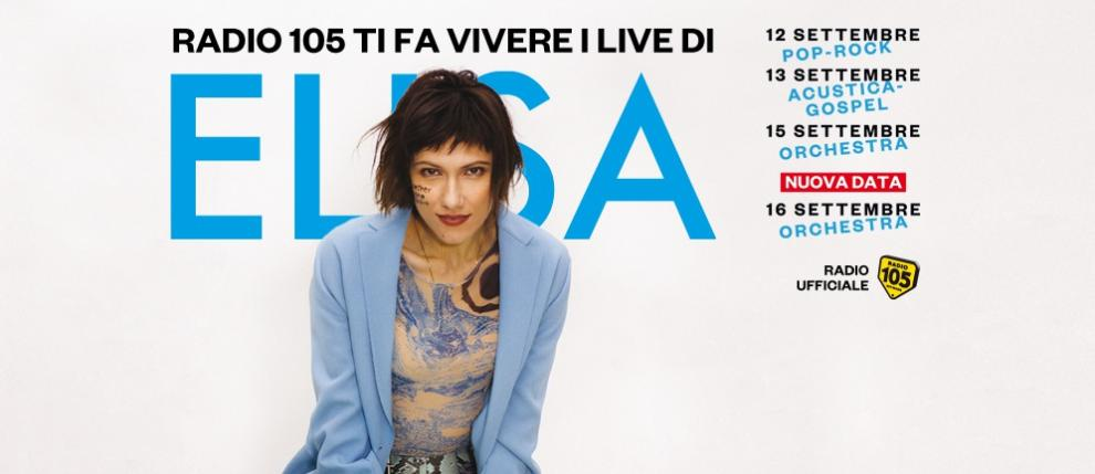 Ti piacerebbe assistere a un concerto di Elisa per i suoi 20 anni di carriera? Partecipa e prova a vincere con Radio 105!