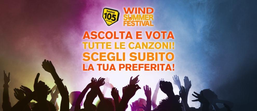 Wind Summer Festival: Radio 105 è la radio ufficiale dell'evento