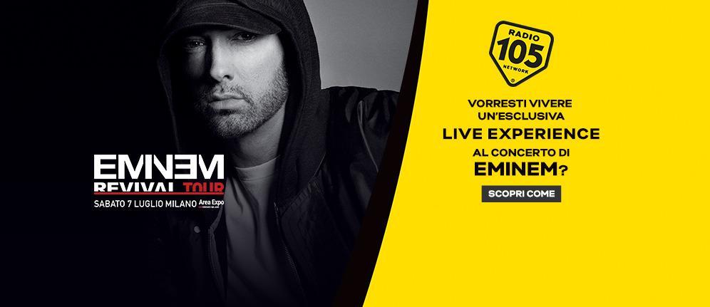 Con Radio 105 al concerto di Eminem