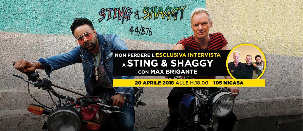 """Sting e Shaggy rivelano i segreti di """"44/876"""" in esclusiva a Radio 105"""