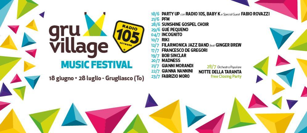 Radio 105 ti porta al GruVillage 105 Music Festival