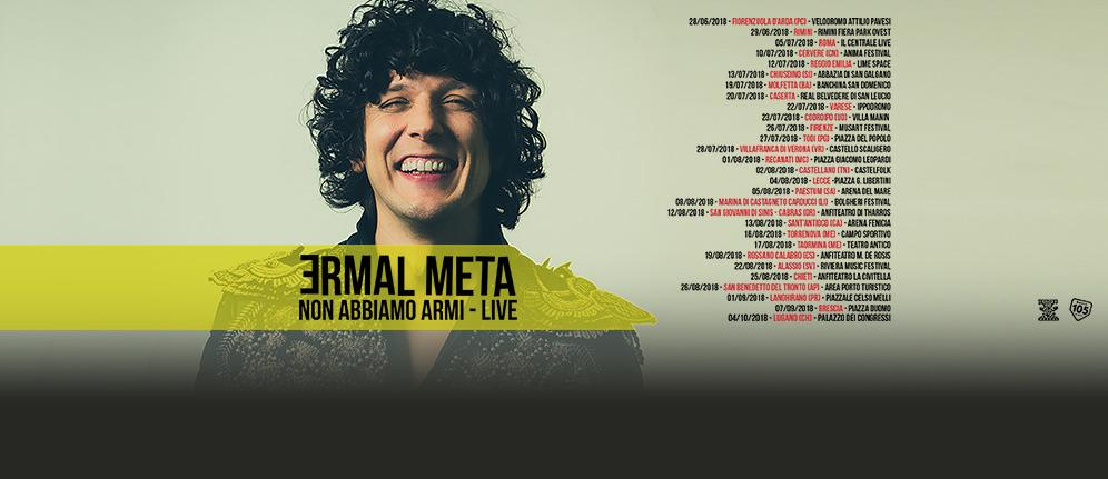 Radio 105 in tour con Ermal Meta