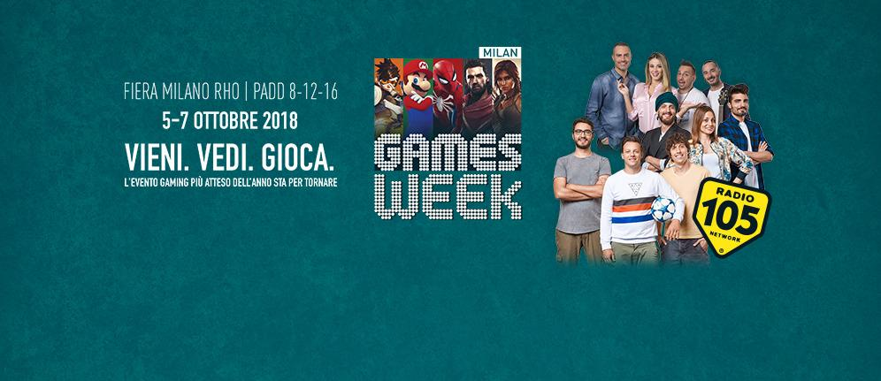 Radio 105 Radio Ufficiale di Milan Games Week 2018